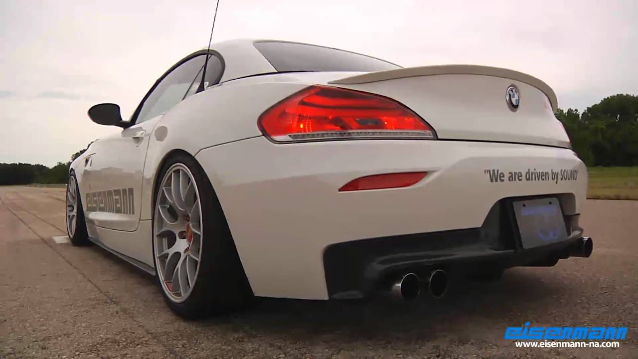 Eisenmann E89 Z4 35i Race Performance With 4x76mm Quad Tips Youtube