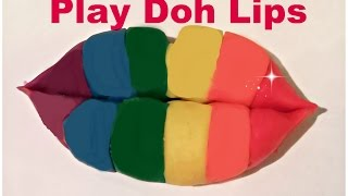Play Doh Lips - using only playdoh - Playdoh Creations by Ingrid Surprise