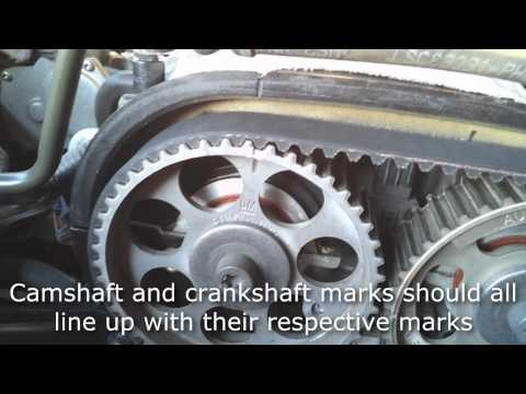 Suzuki Forenza timing belt and water pump replacement part 2 of 2