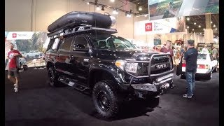 Walking around the Toyota Booth at SEMA in Las Vegas