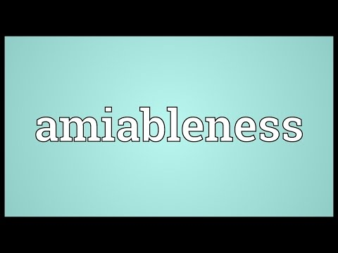 Header of amiableness