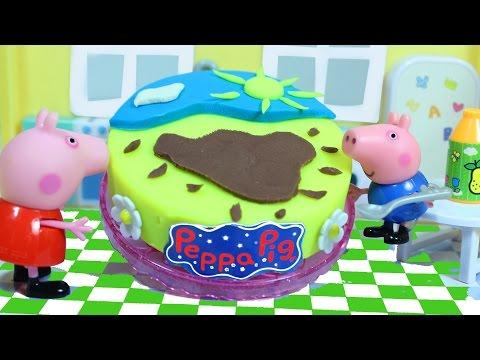 Пеппа и Джордж Сделали Торт из пластилина Play Doh Мультик из игрушек