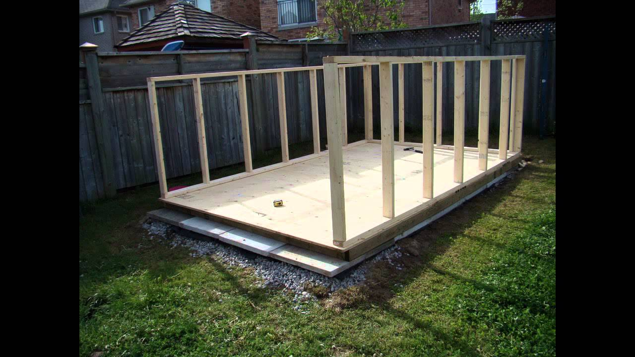 Building a backyard garden shed youtube for Garden shed gym