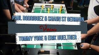 Foosball featured match! Tommy Yore & Erik Hueltner vs Paul Rodriguez & Shaun St Germain