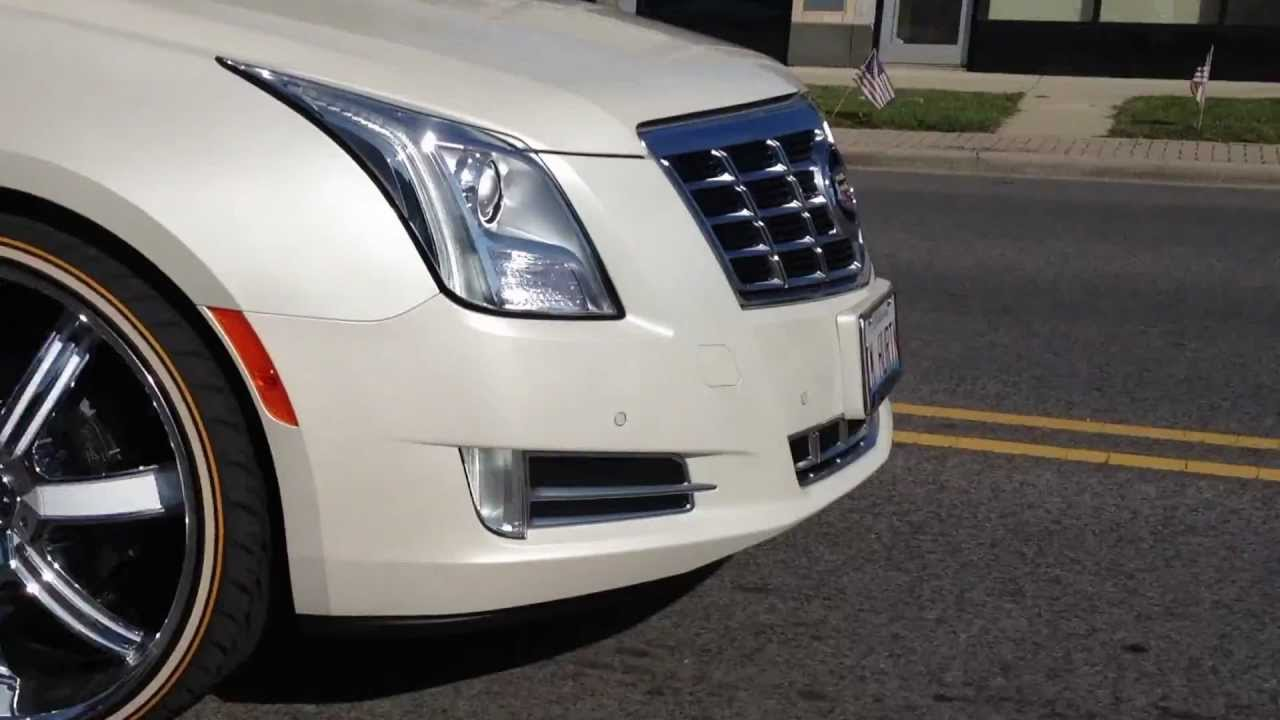 2013 Cadillac XTS on 24s and Vogues - YouTube