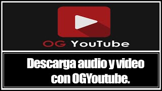 SapereTech - OGYOUTUBE 4.X - YouTube