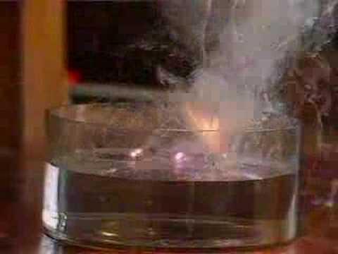 Reaction Of Rubidium With Water Youtube