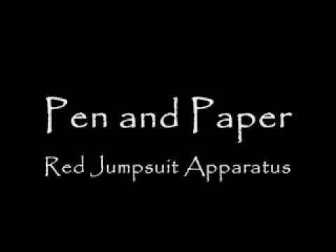 The Red Jumpsuit Apparatus - Pen And Paper