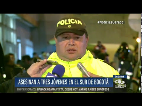 Sicarios asesinan a tres menores de edad en el sur de Bogotá - 03 de Junio de 2014