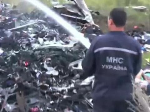 Raw: Firefighters Locate Malaysian Jet Wreckage video
