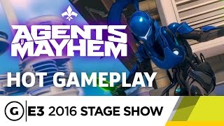 Hot Agents of Mayhem Stage Demo - E3 2016 Stage Show