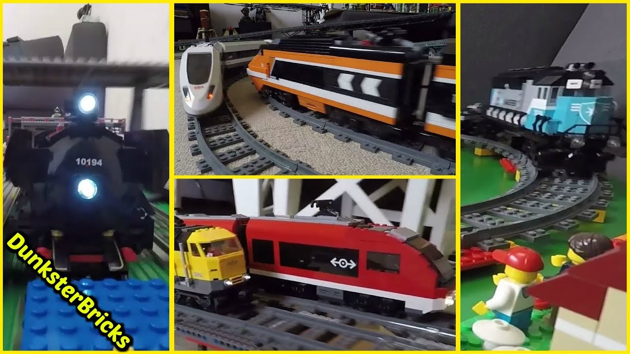 how to build a lego train track