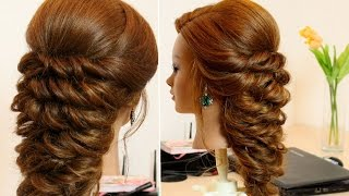 Prom bridal hairstyle for long hair.
