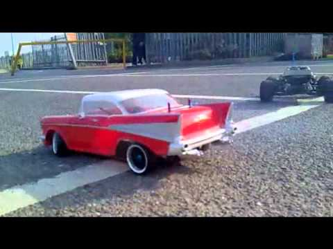 Chevy Bel Air 1957 Bournout Stunts Drift Youtube