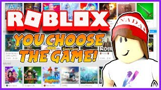 YOU CHOOSE THE GAME 🔴 Playing With Viewers! - Roblox Live