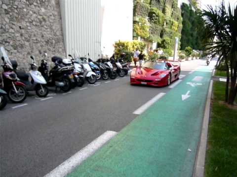 Ferrari F50 Sound Accellerate-At monaco