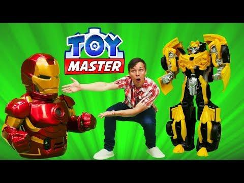 #ТойМастер ✌ и Бамблби спасают #ЖелезныйЧеловек Игры #Трансформеры для мальчиков Игрушки #супергерои