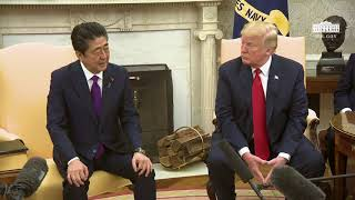 President Trumps Meets with the Prime Minister of Japan