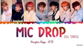 Full Length Edition Bts Mic Drop Steve Aoki Remix Color Coded Han Rom Eng