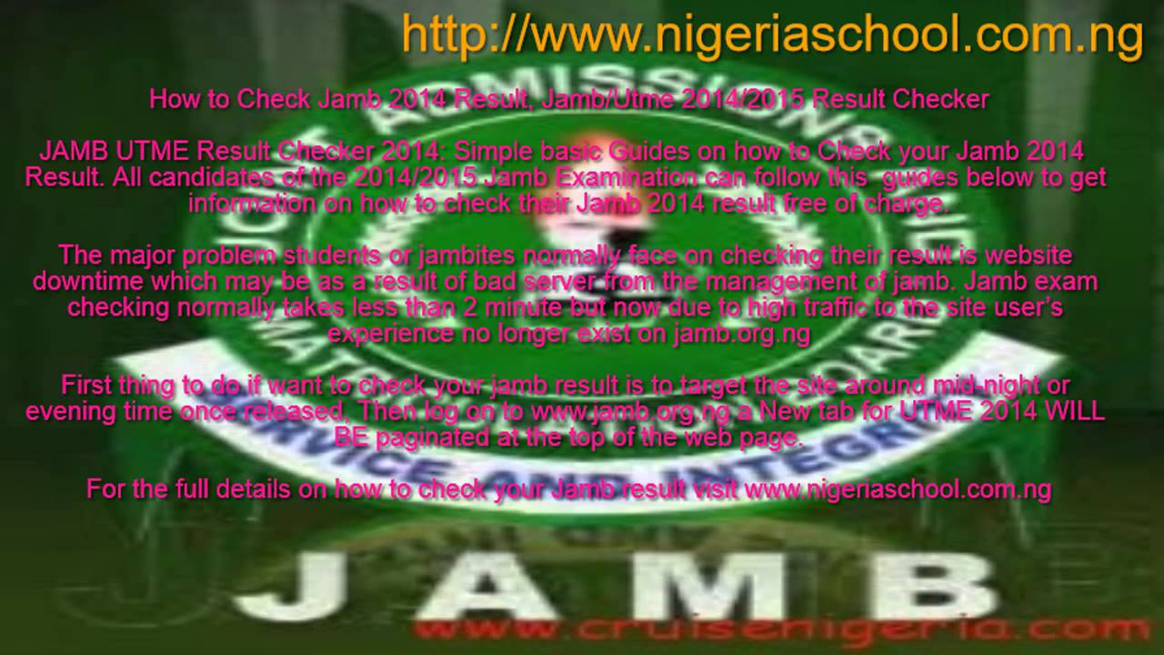 How to check Jamb 2014-2015 Result Online - YouTube