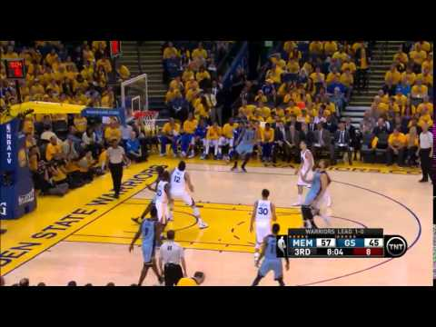 NBA, playoff 2015, Warriors vs. Grizzlies, Round 2, Game 2, Move 30, Marc Gasol, 2 pointer