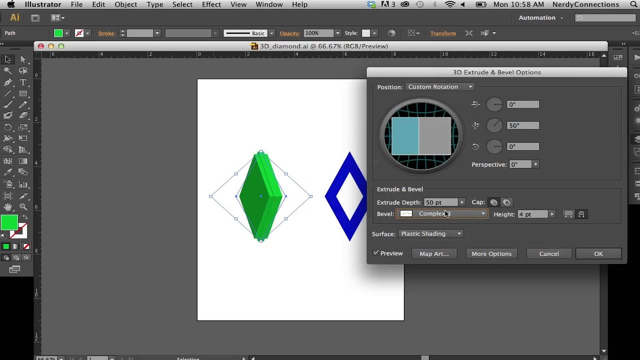 how to make a 3d cylinder in illustrator