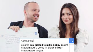 Emily Ratajkowski & Aaron Paul Answer the Web