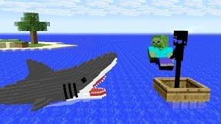 Monster School: Shark Attack - Minecraft Animation Jaws Movie