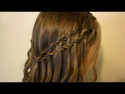 Scissor Twist Waterfall Braid Hairstyle video