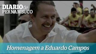 Eduardo Campos � homenageado durante a diploma��o de Paulo C�mara