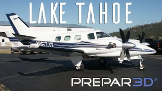 Prepar3D - Turbine Duke - Landing at Lake Tahoe - TrackIR