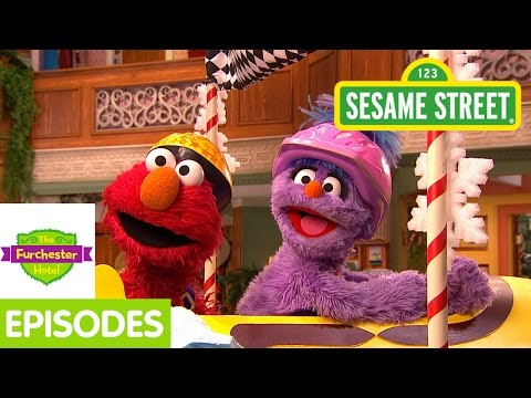 Furchester Hotel: Elmo Goes Sledding With Penguins video