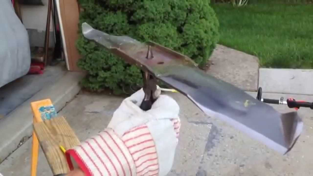 How To Sharpen And Balance The Blade On A Lawn Mower Youtube