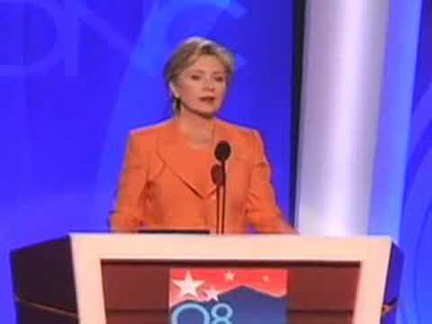 Hillary Clinton at the 2008 DNC Video