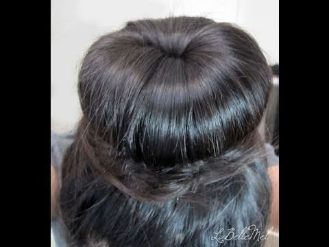 5 Min Hair: Donut Sock Bun or Top Knot Tutorial using NO HEAT