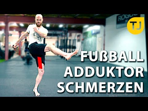FUßBALL ADDUKTOR SCHMERZEN Vorbeugen. (+Mehr Kraft beim Abstoß)