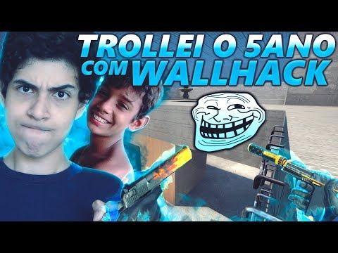 TROLLANDO O 5 ANO COM WALLHACK - CS:GO TROLL #8
