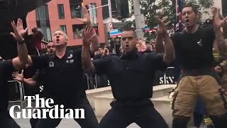 New Zealand firefighters perform haka to pay tribute to 9/11 first responders