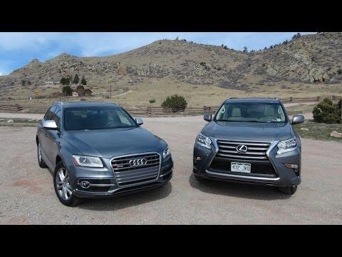2014 Audi SQ5 vs Lexus GX 460 0-60 MPH Mashup Review