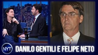 Felipe Neto aparece FELIZÃO, afirma que a casa caiu pro Bolsonaro e Danilo Gentili comenta polêmica