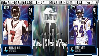 10 YEARS OF MUT PROMO EXPLAINED! FREE LEGEND, LTD CARDS, AND PREDICTIONS! | MADDEN 20 ULTIMATE TEAM