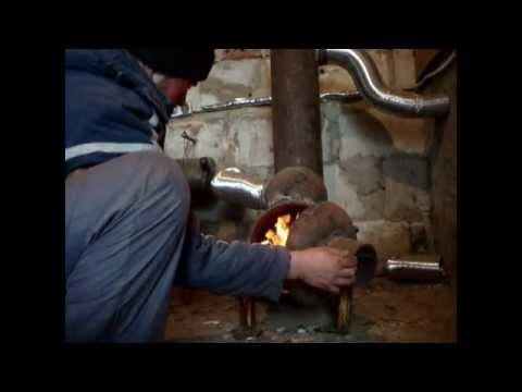 Буржуйка из газовых баллонов  с теплообменником