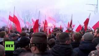 Poland: At least 40,000 nationalists march on streets of Warsaw for Independence Day
