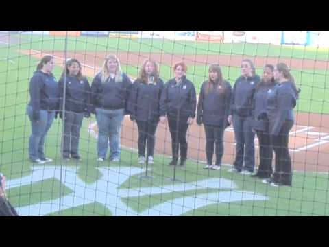University of Tampa Camerata Singers 03/26/2013 at Steinbrenner Field