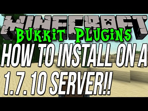 How To Install Plugins On A Minecraft 1.7.10 Bukkit Server