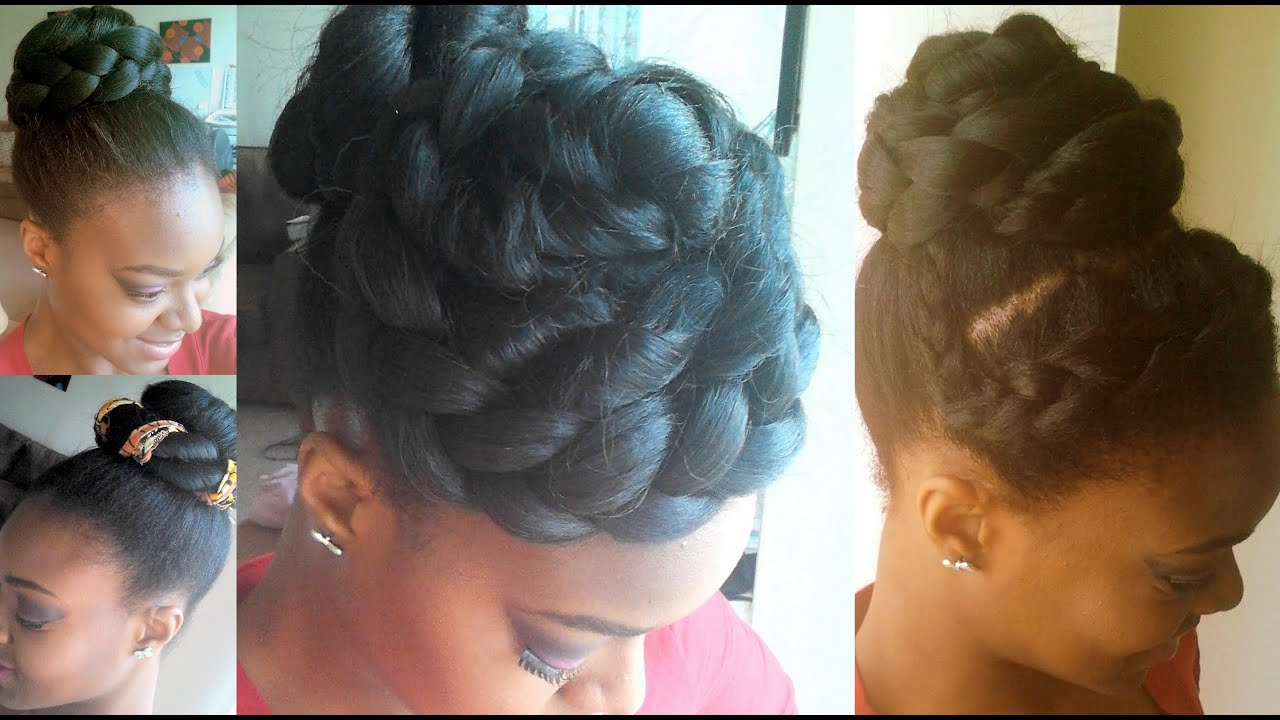 High Bun Styles Using Yaki Hair - YouTube