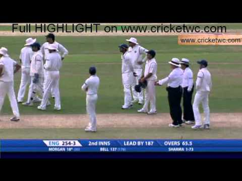 Ian Bell's controversial run out against India