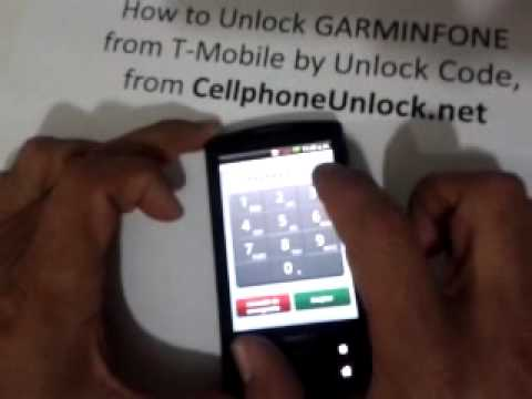 how to unlock garminfone from t mobile by unlock code from