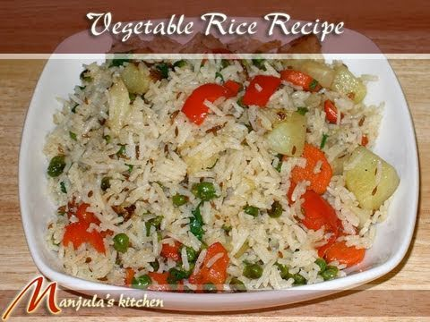 Vegetable Rice (Pulav) Recipe by Manjula Music Videos