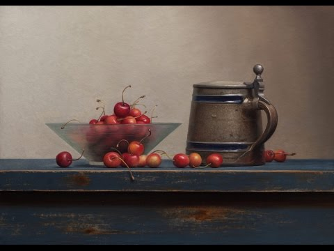 Oil painting demo: Cherry still life